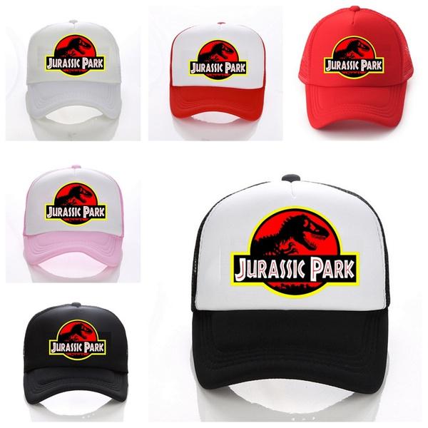 Fashion Jurassic Park Tyrannosaurus Trucker Baseball Cap Mesh Curved Hat 1pcs