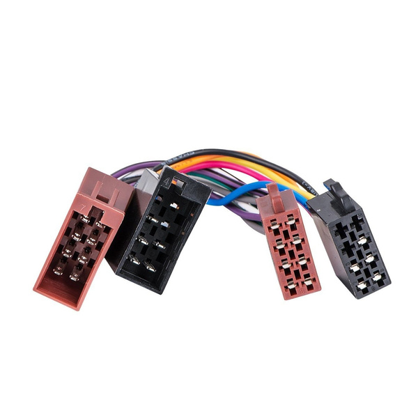 Male to ISO Lead Stereo Radio Wiring Harness Adaptor Cable Connector Vw Wiring Harness Radio on vw turn signal wiring harness, vw radio removal tool, vw bus wiring harness,