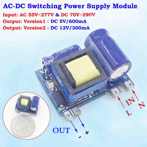 Mini AC-DC Converter 110V 220V to 5V 600mA Isolated Switching Power Supply Board