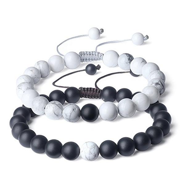 Charm Bracelet, Beaded Bracelets, Jewelry, 8MM