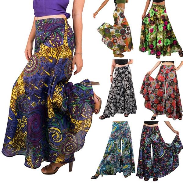 Women Pants, bohemia, harem, Wool