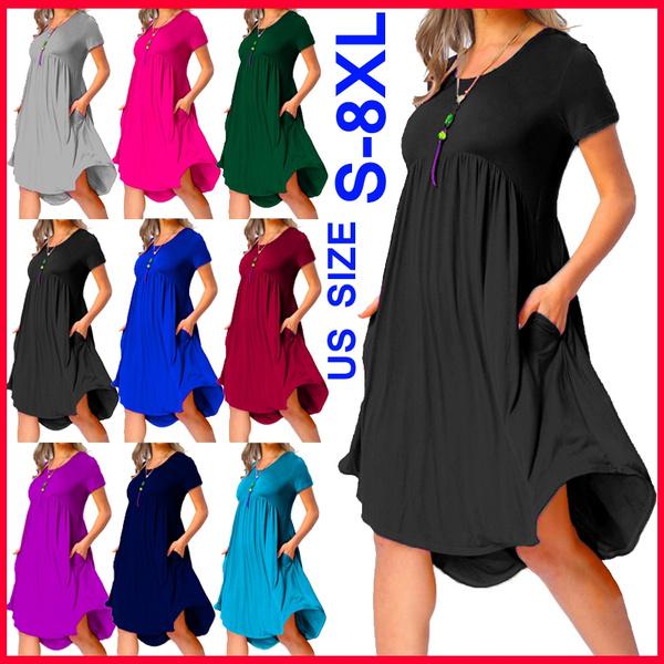 Summer, short sleeve dress, Mini, Pleated
