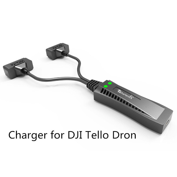 For Tello Battery Charger 2 in1 Multi Battery Charging Hub for DJI TELLO Drone