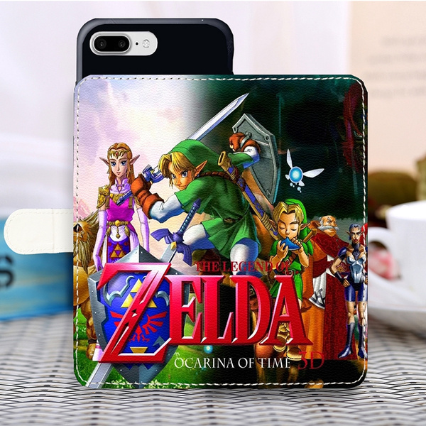The Legend Of Zelda Phone Case Design Ocarina Of Time Wallpaper Pu Leather Case Magnetic Wallet Cover For Iphone Samsung Huawei