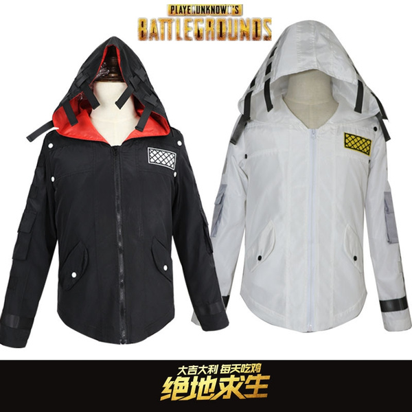 New Game Pubg Playerunknowns Battlegrounds Cosplay Costumes Chicken Dinner Unisex Hooded Jacket Casual Middle Ages Punk Coat