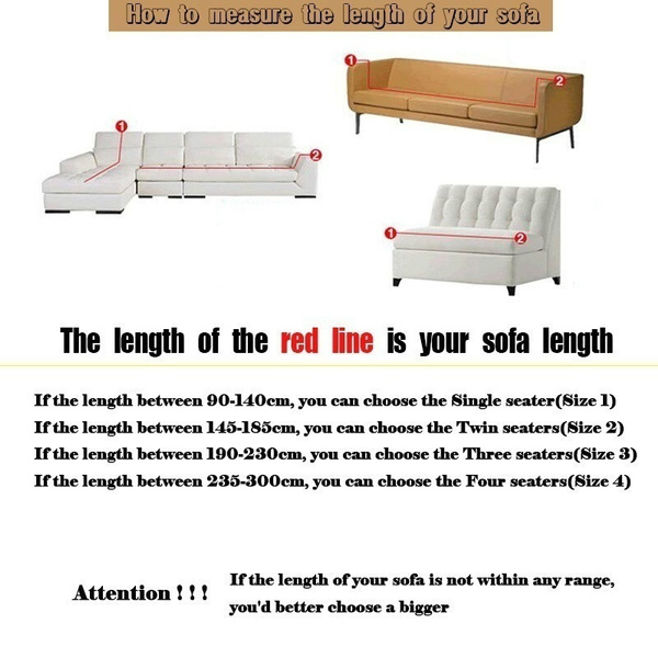 Wish | 16Solid Color Art Turnkey Antiskid Spandex Stretch Sofa Cover Big  Elastic Sofa Furniture Cover   Machine Washable