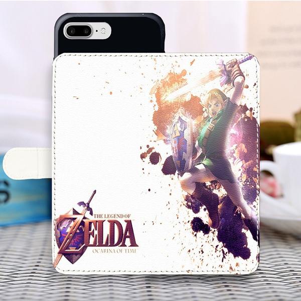 The Legend Of Zelda Phone Case Design Loz Ocarina Of Time Wallpapers Pu Leather Case Magnetic Wallet Cover For Iphone Samsung Huawei
