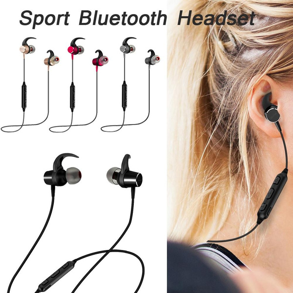 Magnet Sports Bluetooth Double In Ear Headset Ipx7 Waterproof Bt4 1 Music Mic Control Wireless Earphones For Android Ios Noise Cancelling Earbuds Handsfree Wish