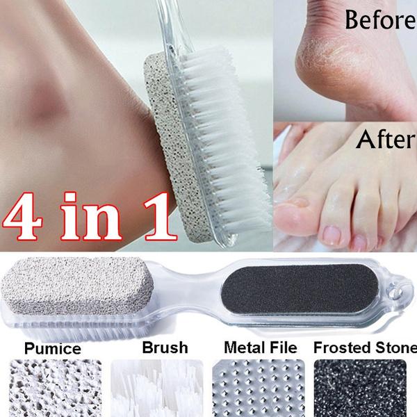 4 In 1 Foot Brush Scrubber Feet Massage Pedicure Tool Scrub