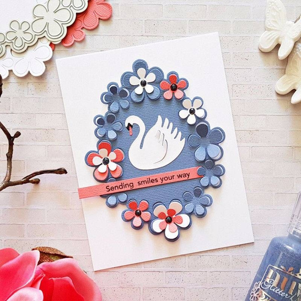 Circle Wreath Metal Cutting Dies Stencil for Scrapbooking Card Embossing Craft