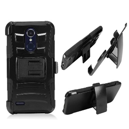 Phone Case for LG Zone-4 (Verizon), LG Fortune-2, LG Risio-3, LG Aristo-2 X  210, LG Tribute Dynasty (Boost Mobile) Combo Holster Belt Clip with Rugged