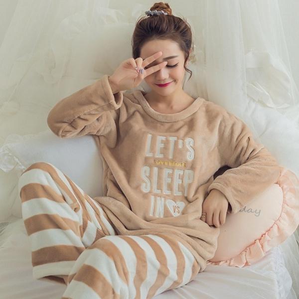 nightwear, velvet, Winter, Stripes