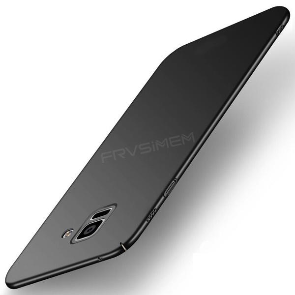 coque samsung A6 A6+ A8 A8 + ,Dur Pleine PC Cas Pour Samsung Galaxy A8 2018  A8 + A6 A6 + PLUS Ultra Mince Cas Pour Samsung Galaxy A8 2018 Capa Cas  Funda