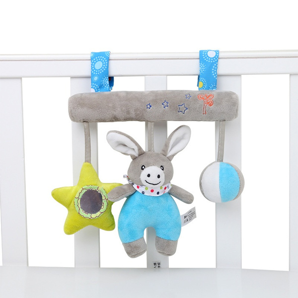 Cute Plush Toy Comfort Baby Donkey Sound Toy Plush Toy Handbells Bed Bells  Toy