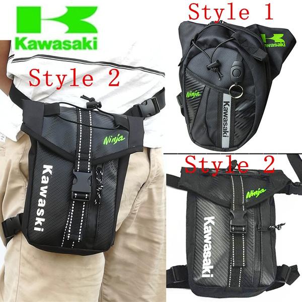 Kawasaki Nylon Waist Pack Leg Bag Waterproof Waistpack Motorcycle Funny Drop Belt Pouch Packs For Men