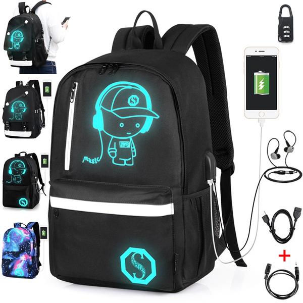 Backpacks Bolsas Canvas Teenage Student Mochilas Schoolbag Luminous Bag Bags School Book Femininas Nnw0m8