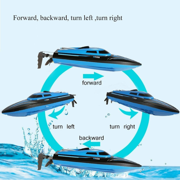 Wish Hot Sale Rc Boat H100 2 4g 4ch Remote Control Boat With High