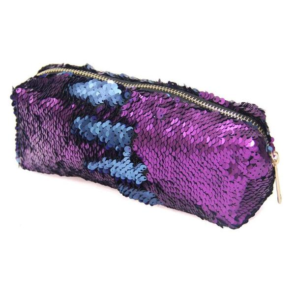 256b230917b7 DIY Reversible Sequins Pencil Bag Mermaid Sequin Cosmetic Bag Magic Sequins  Makeup Pouch Fashion Color Changing Makeup Bags Handbag Glitter Pencil ...
