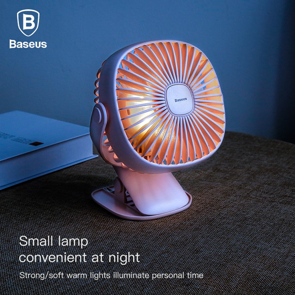 Household Appliances Small Air Conditioning Appliances Mini Usb Rechargeable Air Cooling Fan Clip Desk Fan Dual Use Home Student Dormitory Bedside Portable Desktop Office Fan