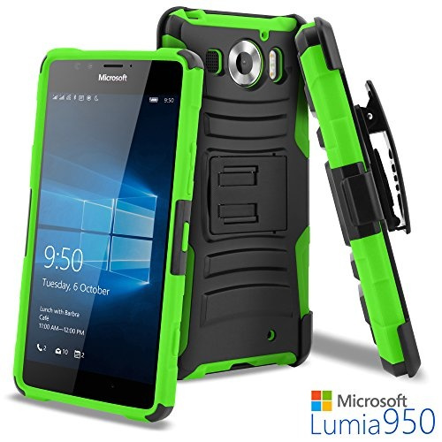 meet 8f4f4 0e18b Celljoy Case compatible with Microsoft Lumia 950, Lumia 950, Nokia Lumia  950 (NON XL MODEL)[Ultra Rugged Hybrid]((ShockProof))[Heavy Duty  Protection] ...