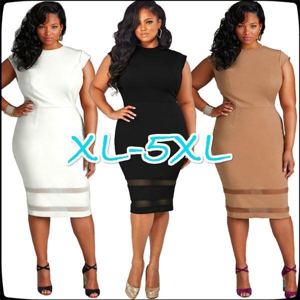8ff6eb918fab Sexy Dress Women's Dress Fat Woman's Dress Pure Color Net Gauze ...