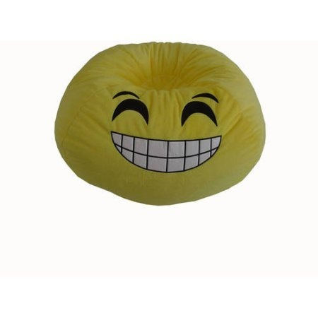Miraculous Versatile Upbeat Durable Easy Care Emoji Bean Bag Go Express Yourself Grin Forskolin Free Trial Chair Design Images Forskolin Free Trialorg