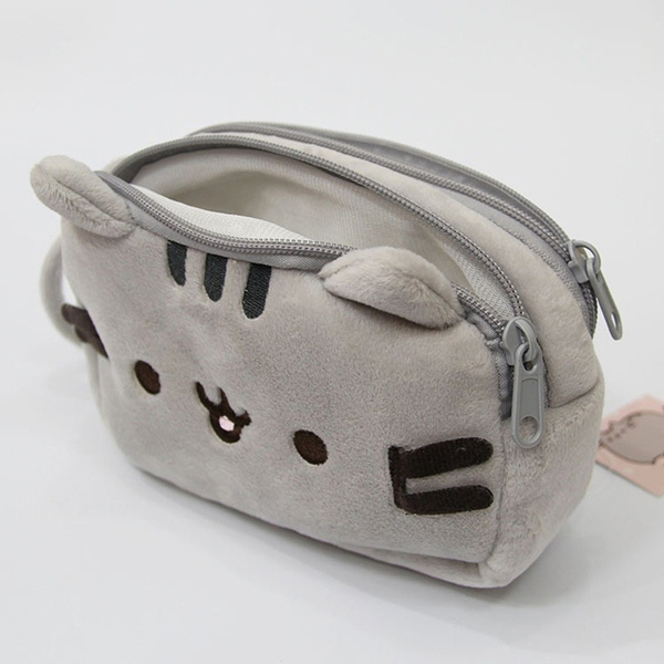 8cf51d028f0 Soft Plush Stuffed Pusheen Coin Purse Zipper Wallet Clutch Card Holder  Small Handbag