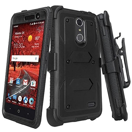 brand new 4510d 66623 ZTE ZMAX One (Z719DL) Case, ZTE Grand X 4 Case, ZTE Blade Spark Z971 Case  [Shock Proof] Heavy Duty Belt Clip Holster, Full Body Coverage with Built  In ...