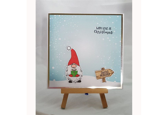 Album Cut Dies+Clear Stamp Stencils Scrapbooking Christmas Dwarf Embossing