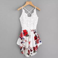 Summer, Shorts, short dress, Floral dress