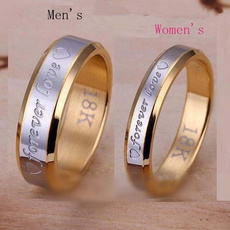 Couple Rings, foreverlove, Love, gold
