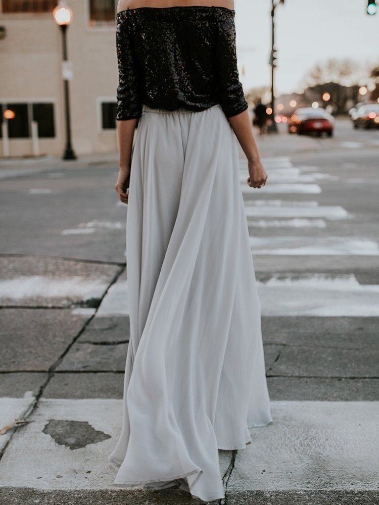 d009e83c42 Style:Sexy High Waist Pleated Long Skirt Size: S M L XL What you will get :  1 * women skirt. Casual dresses ...