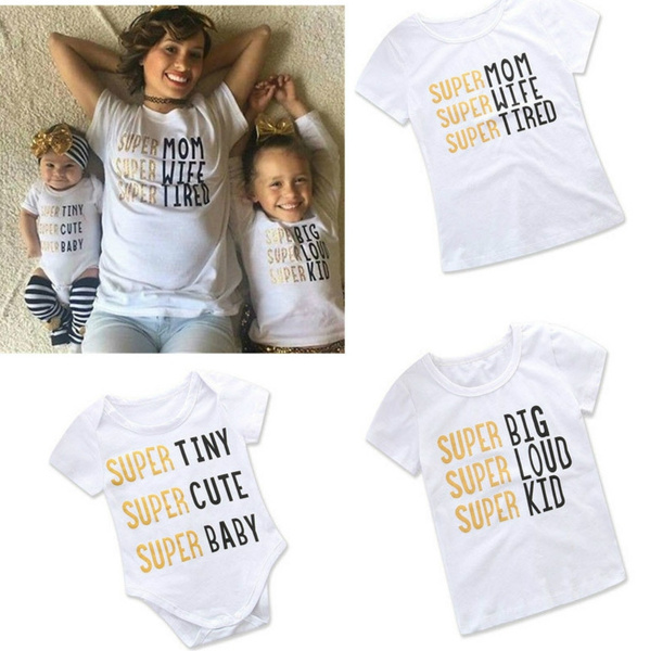 14dd0ea35a Tshirt Family Look Matching Outfits Mom and Daughter Son Me Clothes ...