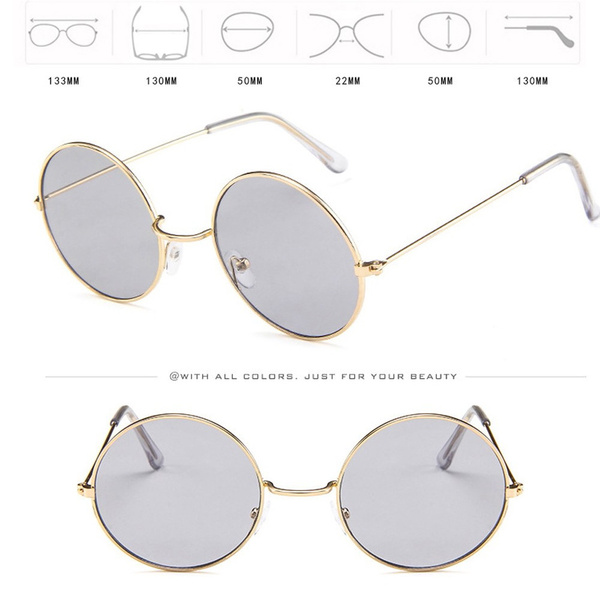 9158dfc6ed5572 Wish   Women Men Vintage Retro Glasses Unisex Fashion Circle Frame  Sunglasses Eyewear Verres rétro Vintage unisexe Fashion Circle Frame  Lunettes de soleil ...