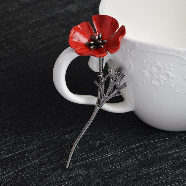 Wish new unisex 1pc vintage style red poppy flower brooch lapel wish new unisex 1pc vintage style red poppy flower brooch lapel pin clothes accessory mightylinksfo