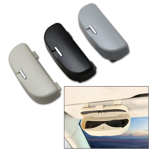 High Quality Plastic Car Eye Glasses Holder Sunglass Case Auto Storage Box  Sun Visor Clip