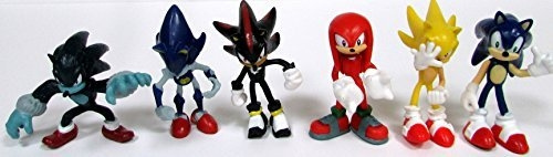 Shadow Werehog Knuckles /& Super Sonic Metal Sonic Figures Range from 2 to 3 Tall SONIC 6 Piece Figure Set Featuring Sonic Figures Range from 2 to 3 Tall Knuckles /& Super Sonic