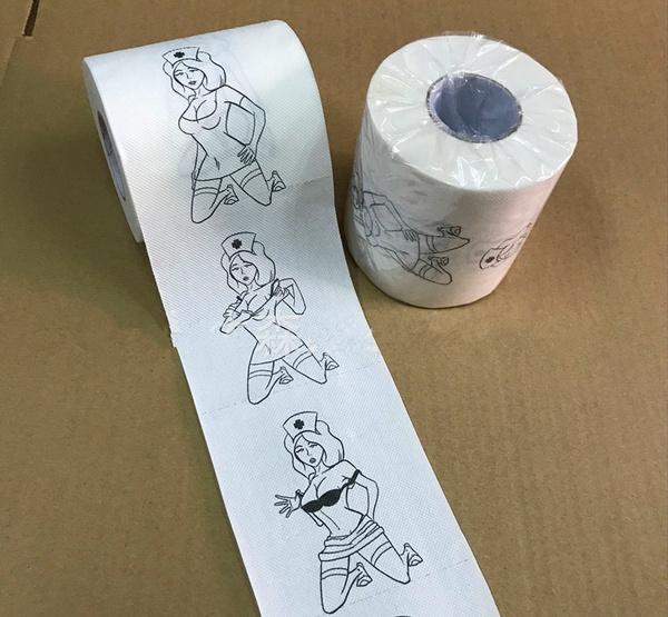 1Pc Sexy nurse Vulgar Pornography Funny Toilet Paper Tissue Funny Roll  Prank Joke Gift 2Ply 240Sheet