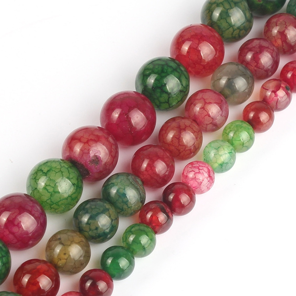 Dragon Vein DIY Agat Beads Natural Stones Craft Beads for Jewelry Making 6mm