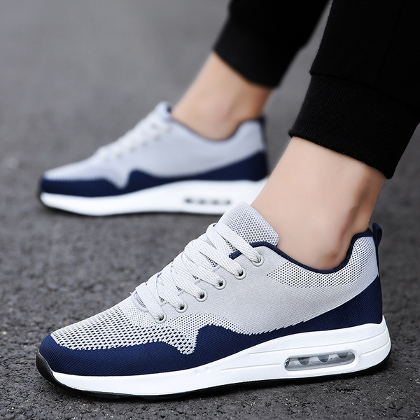Men/'s Mesh Air Cushion Trainers Breathable Sneakers Ruuning Sport Shoes Athletic