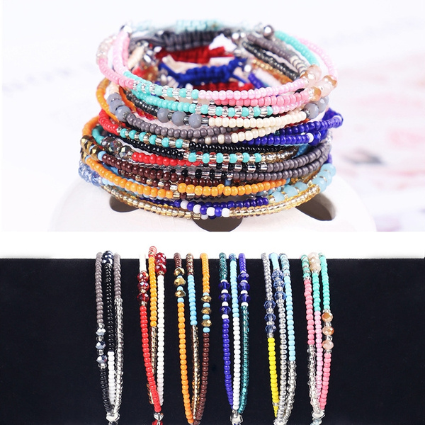 Summer, colorfulbracelet, multi-layer bracelet, Bracelet