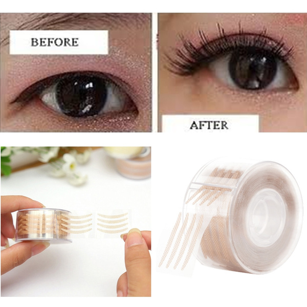 300 Pairs of Mesh Invisible Invisible Magic Double Eyelid Tape Eye Lift  with Double Eyelid Stickers Makeup Tools