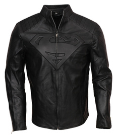 Jacket, supermanleathercostume, blacksupermanjacket, Cosplay