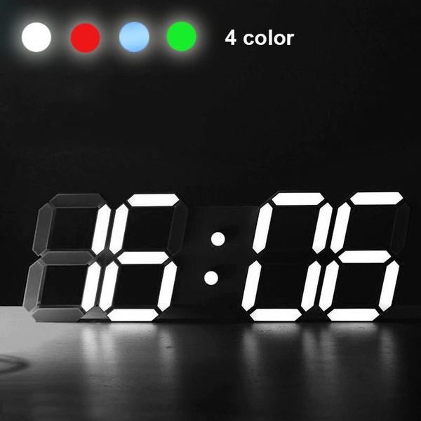 Modern Digital LED Table Desk Night Wall Clock Alarm Watch 24 Or 12 Hour  Display Lu0027alarme Moderne Du0027horloge De Mur De Nuit De Bureau De Tableau De  Digital ...