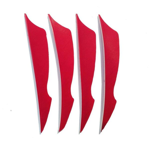 SHARROW 50pcs Bogenschie/ßen Pfeilfedern 4 Zoll Naturfeder Befiederung Bogensport Zubeh/ör