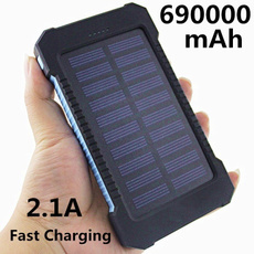 External Battery, Mobile Power Bank, Solar, Waterproof