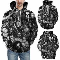 pockethoodie, Casual Hoodie, skull sweatshirt, Pocket