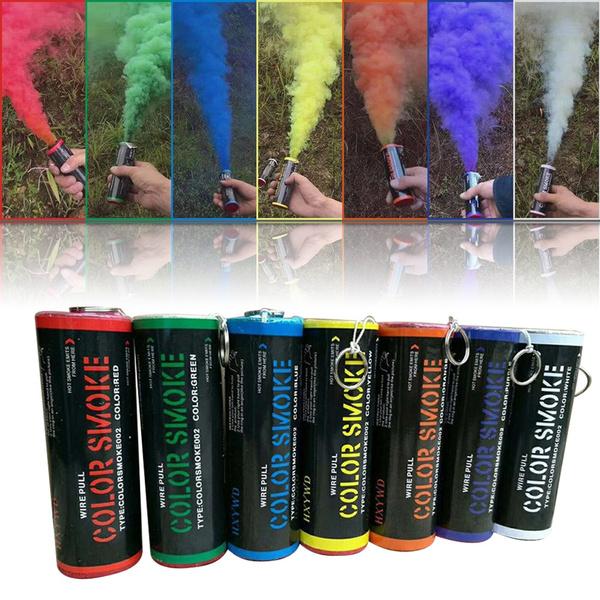 Colorful Smoke Effect Show Smoke Photography Prop Pull Ring Color Smoke  Tube Bomb Background Smoke