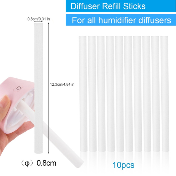 10pcs Cotton Refill Stick Filter Wick Replacement Car Humidifier Diffuser Tool