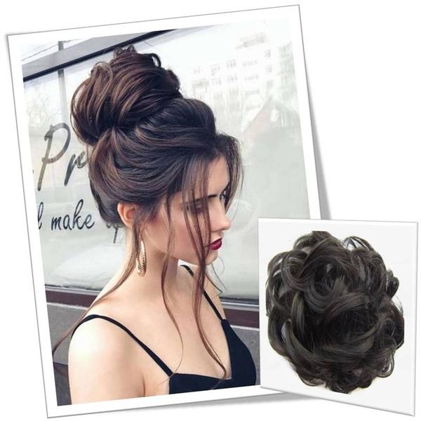 Wish 8 Colors Fashion Women Hair Pieces Messy Hair Scrunchie Fake